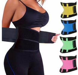Wholesale Slimming Sauna Belt Wholesale - Women's Fitness Waist Cincher Waist Trimmer Corset Ventilate Adjustable Tummy Trimmer Trainer Belt Weight Loss Slimming Belt 20pcs