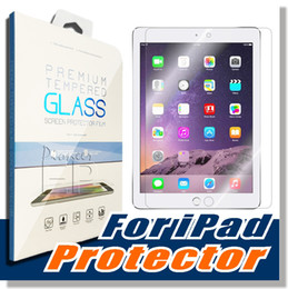Wholesale Ipad Piece - For iPad mini 2 3 4 Air Pro Tempered Glass Screen Protecter Screen Guard for Ipad Air 2 3 4 with 9h Hardness Ultra-thin 0.4mm