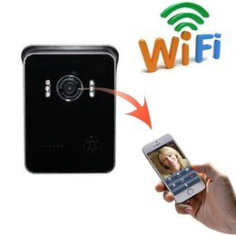 Wholesale Wireless Ipad Camera - NEW 2016 WiFi Video Smart Doorbell IP Visual Door Intercom Wireless Monitoring Bell iPhone Android iPad Tablet Smartphone Monitor Peephole C