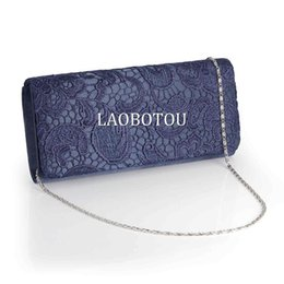 Wholesale Clutches For Prom - LACE FLORAL PROM SATIN WEDDING EVENING CLUTCH HANDBAG FOR WOMEN 5COLORS