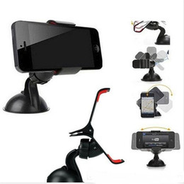 Wholesale Universal Cellphone Car Mount Holder Windshield - Universal Cellphone Car Mount Holder Windshield Desktop Bracket Holders For Cell Phone Smart phone PDS GPS Camera Recoder
