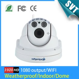 Wholesale Wifi Camera Pan Tilt Zoom - Full HD sem fio PTZ Dome IP Camera 1080 P 2.0MP com Pan   Tilt   Zoom TF   Micro SD Card Slot Low Lux ONVIF Wifi Camera SK-262