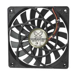 Wholesale 12mm Ball Bearings - Wholesale- SCYTHE SY1212SL12SL 12cm fan slim 12mm 3pin 800rpm 120x120x12mm Ultra-thin fan