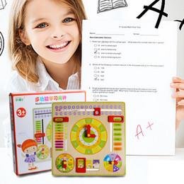 abacus de juguete Rebajas Juguete Educativo Creativo Reloj de Madera Bebé Niños Fecha Aprendizaje Desarrollo Versátil Flap Abacus Reloj de Madera de Juguete