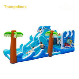 Wholesale Bouncy Houses - Wholesale- 5602 PVC Bounce house inflatable trampoline jumping bouncy castle bouncer jumper with climbing indood playground for kids
