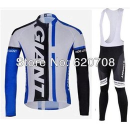 Wholesale Men Pants Style Price - hotsale price New Style Giant Autumn Long Sleeve Cycling Jersey +Lycar(BIB) Pant Set(No Fleece Inside) Sports wear Bicycle clothing Q14005