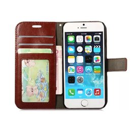 Wholesale Stand Holder Pouch Case - Wallet Case with Card Pouch Stand Holder PU Leather Back Flip Cover Cases For iPhone X 8 7 6S Plus Sumsung Galaxy S8