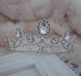 diamante rosso corona Sconti NOVITÀ Luxury Royal princess Red diamond strass Wedding Crowns Velo da sposa Tiara Crown Fascia per le prestazioni delle corone NM77