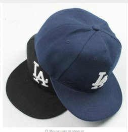 Wholesale La Snapback Hat Women - NEW ER LA Baseball Cap Men Women Snapback Cap Hat Female Male Hip Hop Bone Cap Black Cool 2017 Brand Fashion Street Adjustable