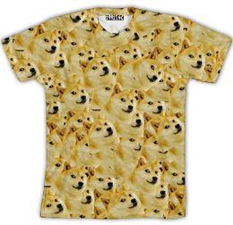 Wholesale God Flash - Harajuku Summer style Women Men Funny Head doge 3d t shirt God dog shiba inu print Tees Tops plus size S-XXL camisa masculin