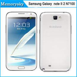 Wholesale Wholesale Refurbished Mobile Phones - Samsung Galaxy Note II N7100 5.5inch Quad core 2G 16GB Refurbished Cellphones 8.0MP Camera GPS WiFi Android 4.1 OS Mobile Phone DHL Free