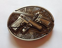 Wholesale Antiques Knives - Antique Style gun with Knife Belt Buckle SW-B5010,brand new condition free shipping