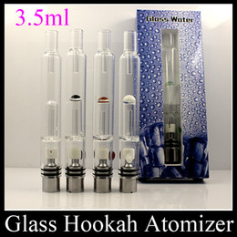 Wholesale Ego Hookah - Glass water Atomizer Water Hookah Cigarette Water Vaporizer Pipe Tank Glass Water Bongs Pipe For Ego vv3 Evod vv Battery ATB031