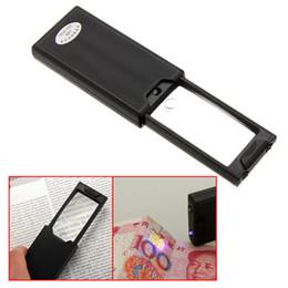 Wholesale Loupe Magnifying Glass Illuminated - Mini Magnifying Portable Pullout Illuminated LED Jeweler Eye Loupe Magnifying Glass Q0162