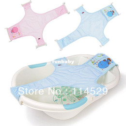Wholesale Soft Bathtub - Baby Soft Bath T-Shaped Netlike Bed Baby Bathtub bath net Support Shower Net 14356