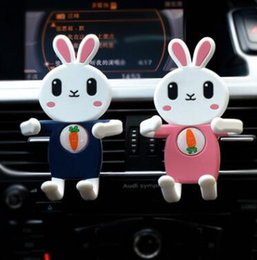 Wholesale Borders Frames - The new cross-border vehicle-mounted cute rabbit mobile phone bracket mounted on the mobile phone rack have the 360 car frame