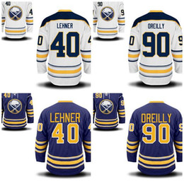 Wholesale Ryan O Reilly - Factory Outlet, Buffalo Sabres Hockey Jerseys 90 Ryan O'Reilly O Reilly Jersey 40 Robin Lehner Home Road Blue White Embroider Jersey