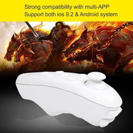 Wholesale Bluetooth Mouse Android Tablet - Universal VR BOX Bluetooth Remote Controller wireless Gamepad Mouse Mini joystick For iPhone Samsung Android IOS mobile phone and tablet