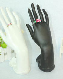 Wholesale Hand Jewelry Ring Display - Free Shipping High quality Black White Hand-shaped Resin Ring Display Stand Show Holder Jewelry Bracelet Hand Display Holder Stand Show