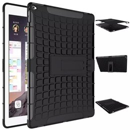 Wholesale Purple Ipad Covers - Robot 2 in 1 KickStand Impact Rugged Heavy Duty TPU+PC Hybrid Shock Proof Cover Case For ipad pro IPAD 2017 ipad pro 10.5 1pcs lot