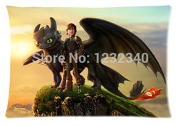 Wholesale Train Pillows - Cool Pillowcase how to train your dragon Style Pillow Case (Twin Sides)(20x30 Inch)