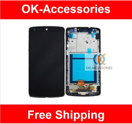 Wholesale Google Nexus Lcd - High Quality LCD Display +Touch Screen +Frame High Quality For LG Google Nexus 5 D820 D821 1PCS Lot Free Shipping