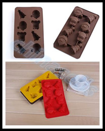 Wholesale Christmas Tree Jelly Mould - Food-grade Silicone Santa Claus Christmas tree Ice Cube Ice Box Chocolate Molds Jelly cup Mold Candy Cake Mould Bakeware
