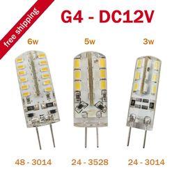 t5 tubo 12w Sconti 10pcs / lot G4 LED Lampadina 3W / 5W / 6W 3014 SMD 24 LED Lampadina Whie / Warm White DC 12V LED Lighting, dandys