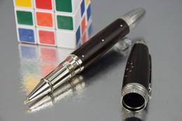 Livraison gratuite Bonne qualité Black Wool Pen édition limitée Silver clip Stylo à bille roulante No Box ? partir de fabricateur
