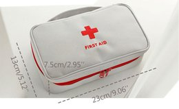 Wholesale alpine white - Portable Empty First Aid Bag Kit Pouch Home Office Medical Emergency Travel Rescue Case Bag Medical Package