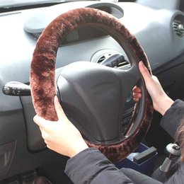 Wholesale Steering Wheel Skins - Soft Short Plush Stretch Winter Car Steering Wheel Cover Vehicle Grips Skin for 35-40CM Diameter
