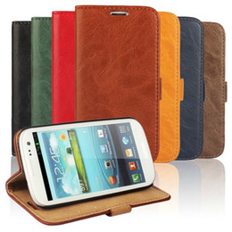 Wholesale S4 Genuine Leather Wallet - New Sale Flip Genuine Leather Case Luxury Wallet Stand Phone Cover Case For Iphone 5s 6 6s Plus Samsung S4 S5 S6 Note3 Note 4