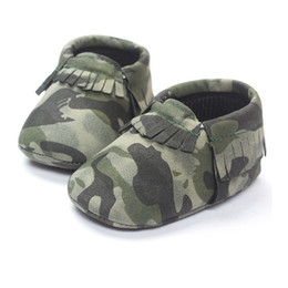 Wholesale Black Toddler Shoe - Free Shipping Baby Boy Shoe Camouflage Top Quality Toddler First Walkers 0-2years Camo Children's Shoes Handmade babywear
