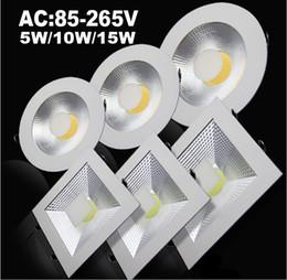 2019 luminárias embutidas no teto Luzes de painel Ultrathin do diodo emissor de luz do COB 9W 15W 20W Dimmable / não Downlights Luzes 110-240V de Anti-dazzle Fixture Recessed lâmpadas do teto para baixo CE luminárias embutidas no teto barato