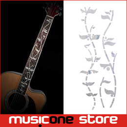 Wholesale Tree Life Decal - Guitar Fret Inlay Stickers Tree Of Life J.Custom Fretboard Decals Marker For Acoustic Electric Guitarra Fret Neck New Colour Abal MU1288-2