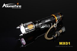 Wholesale Rescue Flashlights - SKU940 AloneFire MX01 X-MEN Series CREE XM-L2 LED 6 mode fully functional alarm rescue led flashlight torch