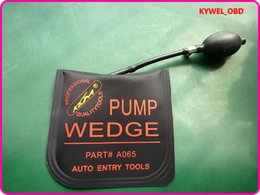 Wholesale Car Door Wedges - New KLOM PUMP WEDGE Airbag Air Wedge-Pump Wedge for Unlock Car Door, bump key padlock tool ,Middle Size with Black Color