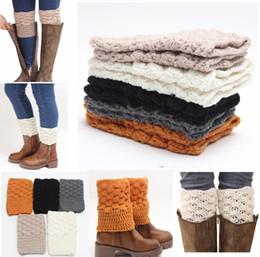 Wholesale Ladies Boot Socks Wholesale - New 2016 Ladies Women Leg Warmer Knit Boot Socks Topper Cuff Free UPS Fedex ship Crochet Knit Boot Socks