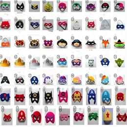 Wholesale Masquerade Mask Kids - 800 Pcs Children Kids Masks Party Decor Halloween Decoration Christmas Party Supplies Masquerade Half Face Masks
