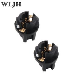 "Wholesale Wedge Base - WLJH T5 Twist Lock Socket Wedge Base 3 8"" Socket Dashboard Instrument Panel Cluster Plug Lamp Dash Light Bulb 37 74 73 308"