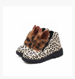 Wholesale Leopard Children Boot - 2015 leopard shoes kids boots girls shoes warm winter boots children's boots Girls Snow Boots Thicken Winter Children Shoes For 4-8 years