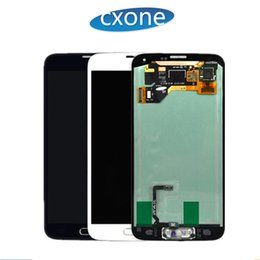 Wholesale Galaxy Screen Assembly - Hot High Quality for Samsung Galaxy S5 LCD i9600 G900F G900H G900M G9001 G900R Touch Screen Assembly Display Digitizer with Free DHL