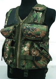 Wholesale Tactical Vest Woodland - Fall-Hunting Tactical Assault Vest Digital Camo Woodland B 50093