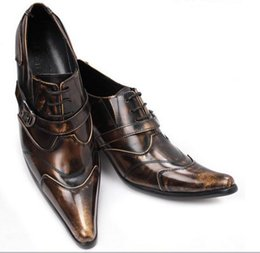 buy hot-hot - Customized Shoes Fashion Men Dress Shoes Leopard Point Toe Barber Shoes Oxford Shoes For Men Party Dress Oxfords Free Shipping