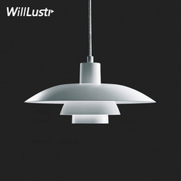 shop lighting design Promo Codes - Modern aluminum pendant lamp hotel restaurant shop cafe bar loft home living dinning room classic nordic design suspension light