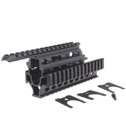 Wholesale Ak Shipping - Funpowerland High quality Black Color AK Handguard RIS Quad Rail System Free Shipping