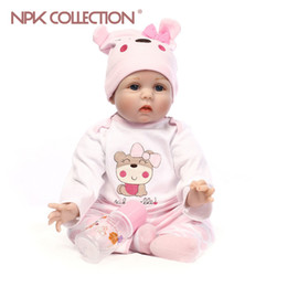 Wholesale Fashion Model Body - Soft Body Silicone Reborn Baby Doll Toy For Girls NewBorn Baby Birthday Gift To Child Bedtime Early Education Christmas Gift