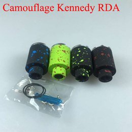 Wholesale Camouflage E Cig - Kennedy Camouflage RDA 4 colors Kennedy Atomizer Dual Direct Bottom Air Holes Rebuildable Dripper e cig vs Lethal Doge v2 Mutation x v3