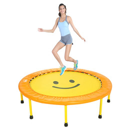 Wholesale Material Weights - Wholesale- Household kids folding Trampoline Fitness equipment bounce training ABS steel material Diameter:121CM 48inch Weight load100kg