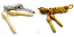 Wholesale Organic Fitness - Boxing Skipping Ropes Jump Rope Organic Wooden Handle Flower Cotton Ligature Outdoor Fitness Gym Speed Children Excise Kids Skipping Jump R